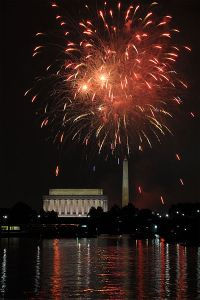 Fireworks in Washington DC by Joe Ravi via CC-BY-SA 3.0