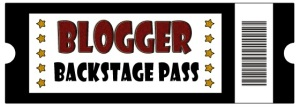 Blogger Backstage Pass Banner